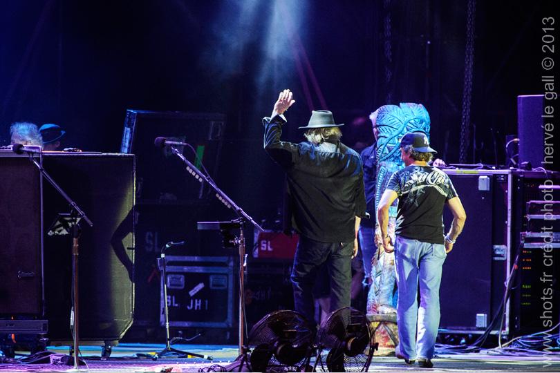 Neil Young au festival des Vieilles Charrues juillet 2013 par Herve Le Gall photographe
