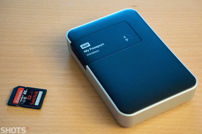 test disque dur autonome mypassport wireless sur SHOTS