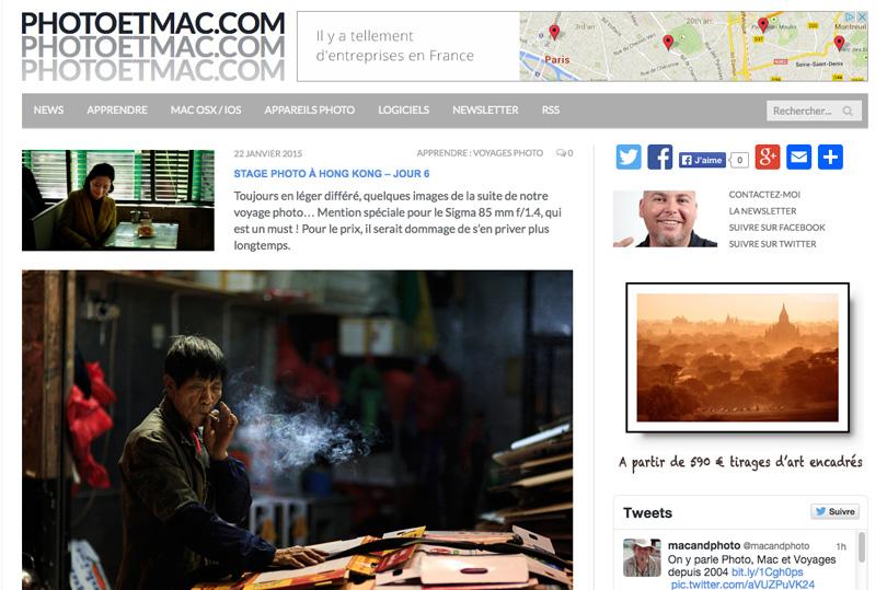 voir le site photo et mac de jean francois vibert utilisateur de adobe lightroom