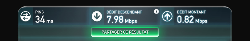 sauvegarde hubic speed test version ADSL vers hubiC