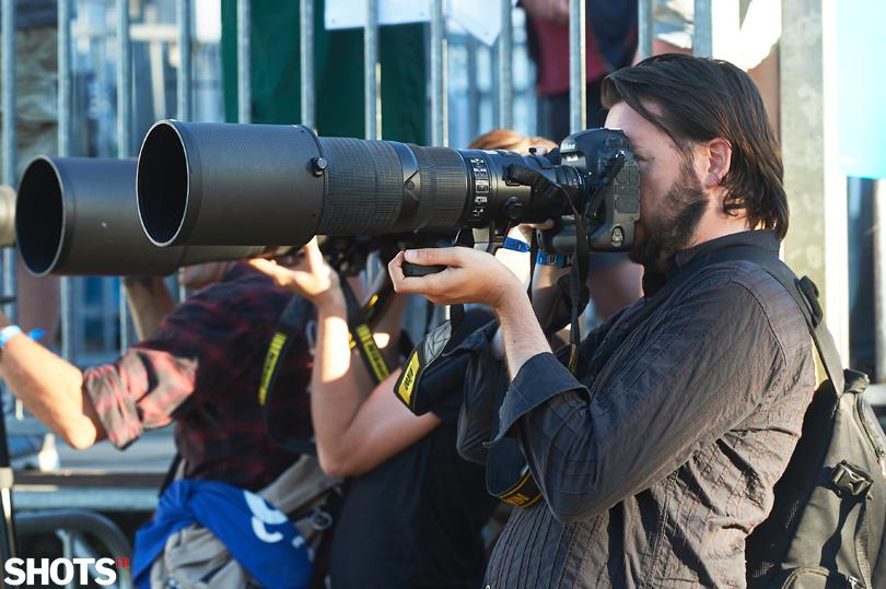 photographes aux vieilles charrues avec D5 et optiques 500 et 600mm FL