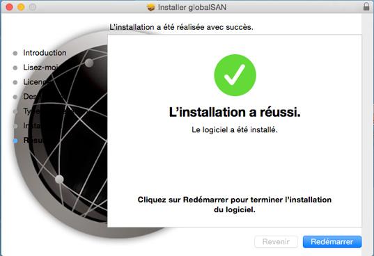installation globalsan initiateur client iscsi pour Mac