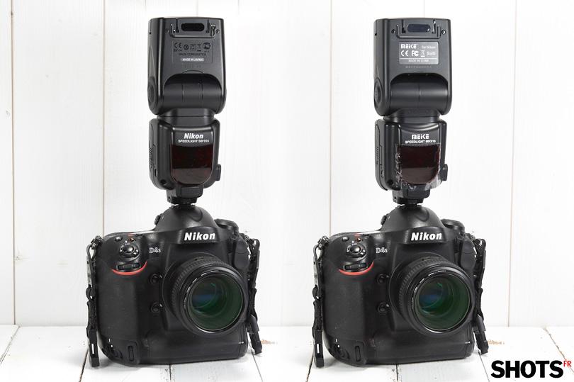 comparatif flash Nikon SB910 versus flash Meike