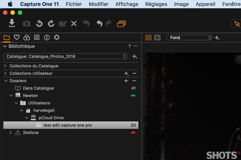 test pcloud et capture one pro