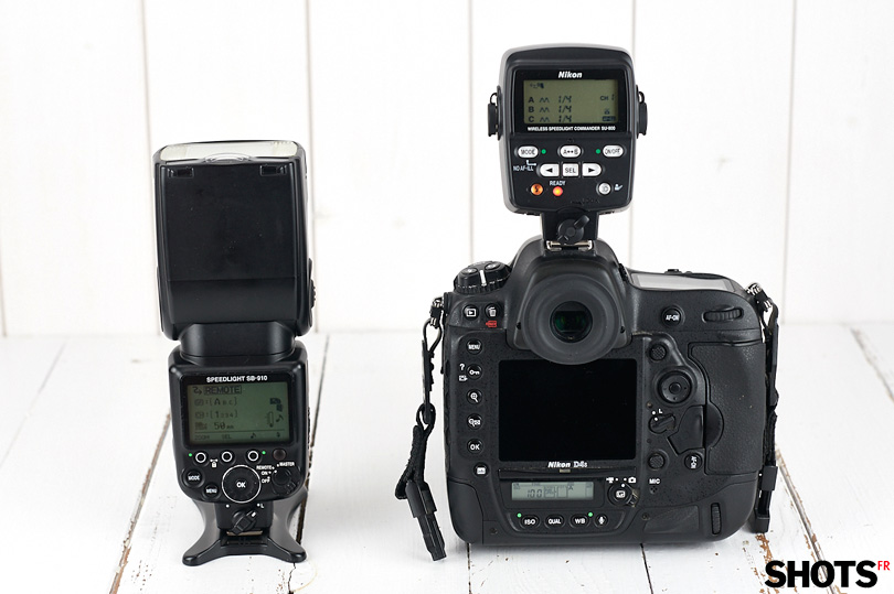 controleur Nikon SU-800 sur D4s et flash Nikon SB910