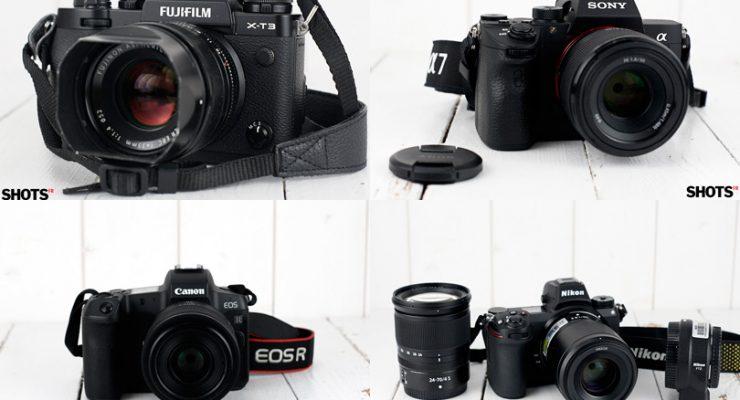 Hybride visée réelle. Fuji, Sony, Canon, Nikon. L'heure du choix.