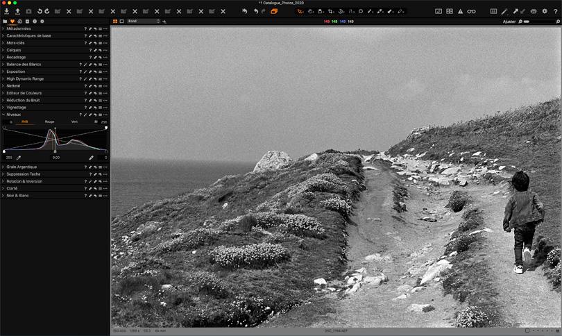 editing negatif noir et blanc avec Capture One Pro 20
