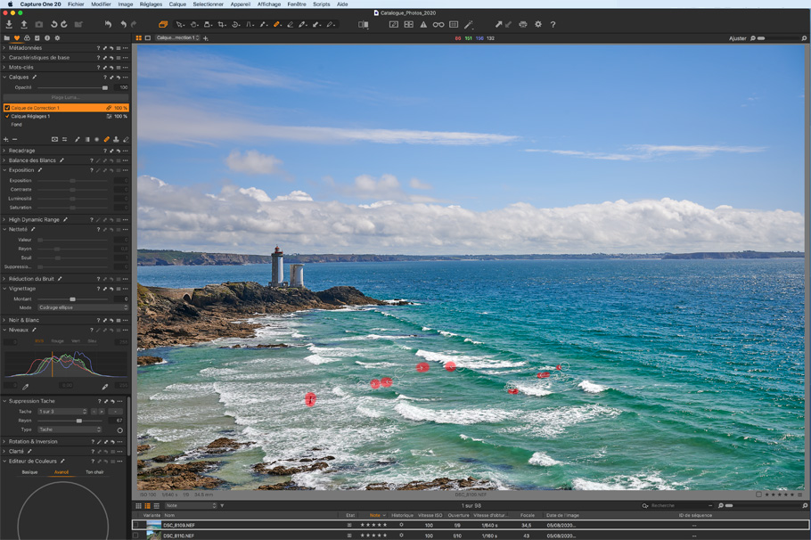 capture one pro 20 correction sélective
